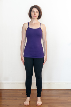 Standing Spine Strech: Set-up